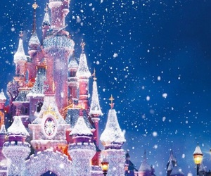 disney, christmas, and snow image