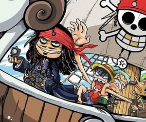 one piece, jack sparrow, and anime image