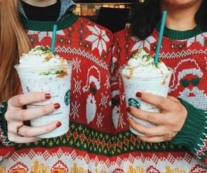 starbucks, christmas, and holiday image