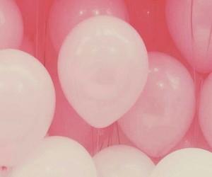pink, wallpaper, and balloons image