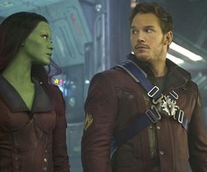 chris pratt, guardians of the galaxy, and gamora image