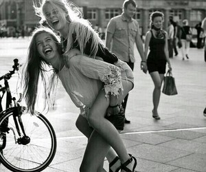 girl, friends, and fun image