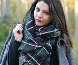beauty, scarf, and fashion image