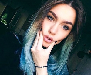 bad girls, blue hair, and cool kids image