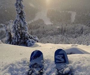 snow, winter, and ski image