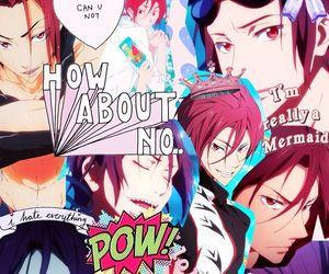 anime, iphone, and rin matsuoka image