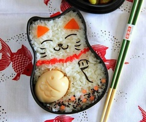 food, japanese, and bento image