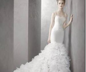bride, wedding dress, and wedding image