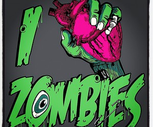 zombies, heart, and zombie image