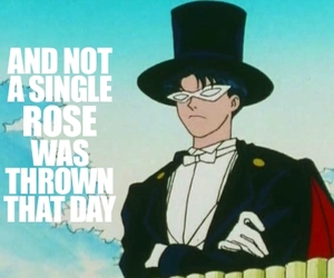 sailor moon, tuxedo mask, and funny image