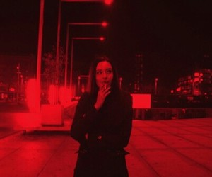 red, glow, and grunge image
