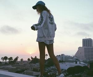 girl, adidas, and city image