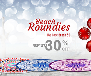 yoga mat, beach roundies, and beach throw image
