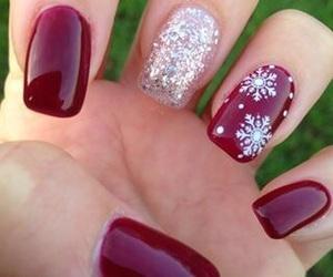 nails, christmas, and beauty image