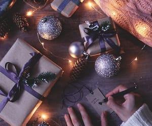 christmas, pinecone, and love image