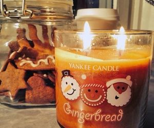 candle, christmas, and gingerbread image