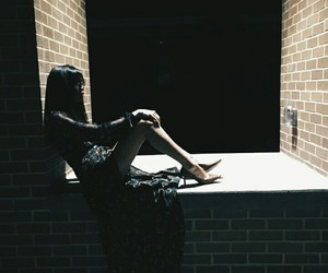 dark, dress, and girl image