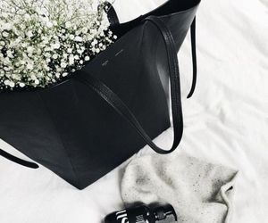 flowers, handbag, and photography image