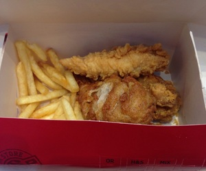 Chicken, gnammy, and KFC image