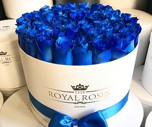 flowers, blue, and luxury image