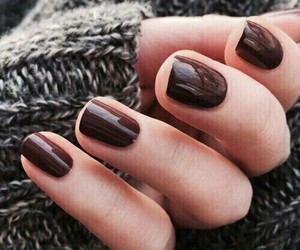 nails, brown, and style image