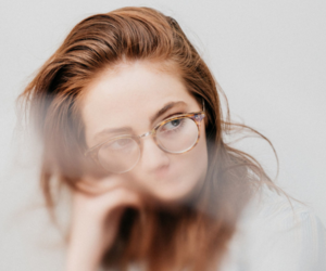 girl, glasses, and ginger image