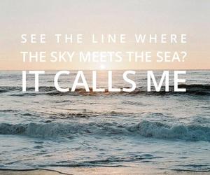 horizon, ocean, and moana image