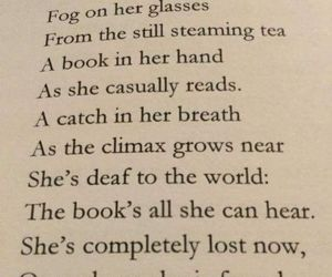 book, poem, and reading image