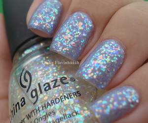 nails, glitter, and cute image