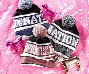 fashion, pink, and winter image