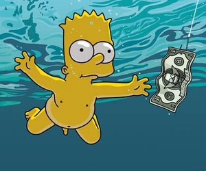 nirvana, simpsons, and wallpaper image