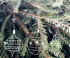 christmas, pattern, and tree image