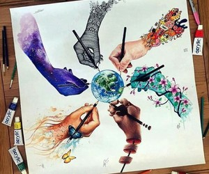 art, earth, and hands image
