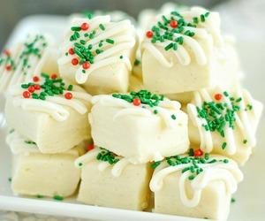 christmas, fudge, and food image