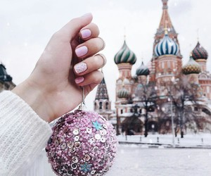 winter, nails, and christmas image