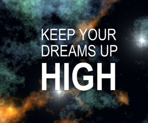 Dream, galaxy, and high image