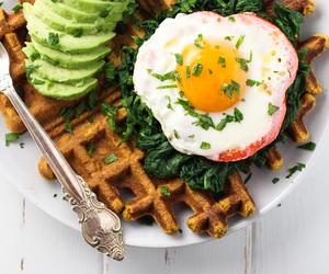 avocado, delicious, and waffle image