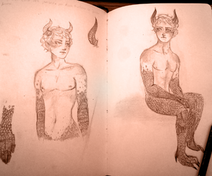 demon, doodle, and practice image