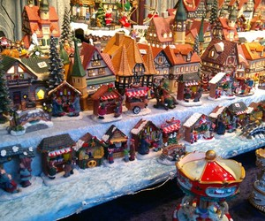 christmas, market, and winter image