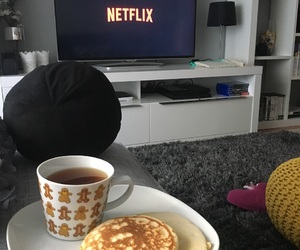 chill, pancakes, and christmas image
