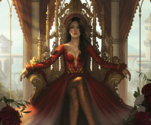 Queen, fantasy, and red image