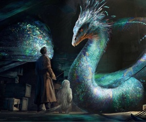 harry potter, fantastic beasts, and occamy image