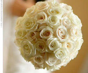 bouquet, white, and roses image