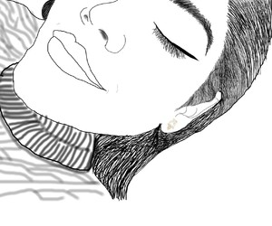draw, eyeliner, and drawing image