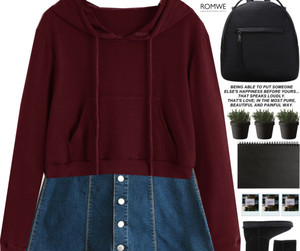burgundy, clothes, and fashion image