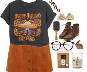 clothes, fashion, and harley davidson image