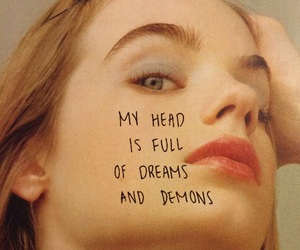 girl, demons, and dreams image
