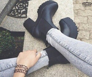 aesthetic, grunge, and boots image