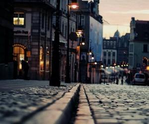 street, light, and city image