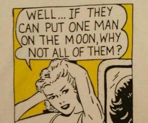 comic, funny, and moon image